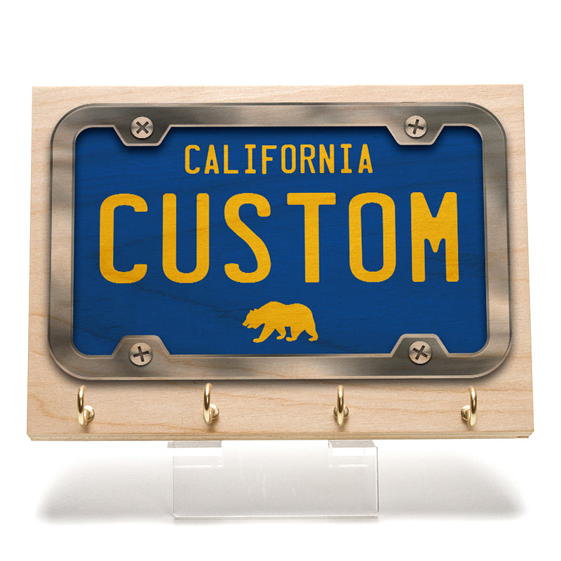 California Blue License Plate Key Rack