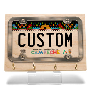 Campeche License Plate Key Rack