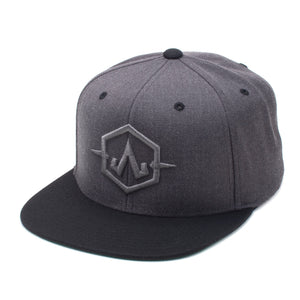 Embroidered Gray Apex Charcoal/Black