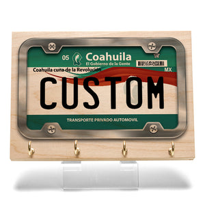 Coahuila License Plate Key Rack