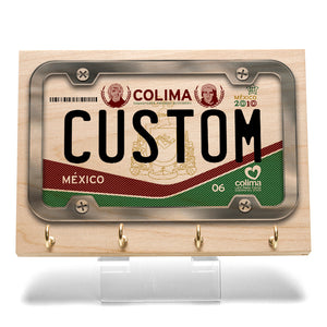 Colima License Plate Key Rack