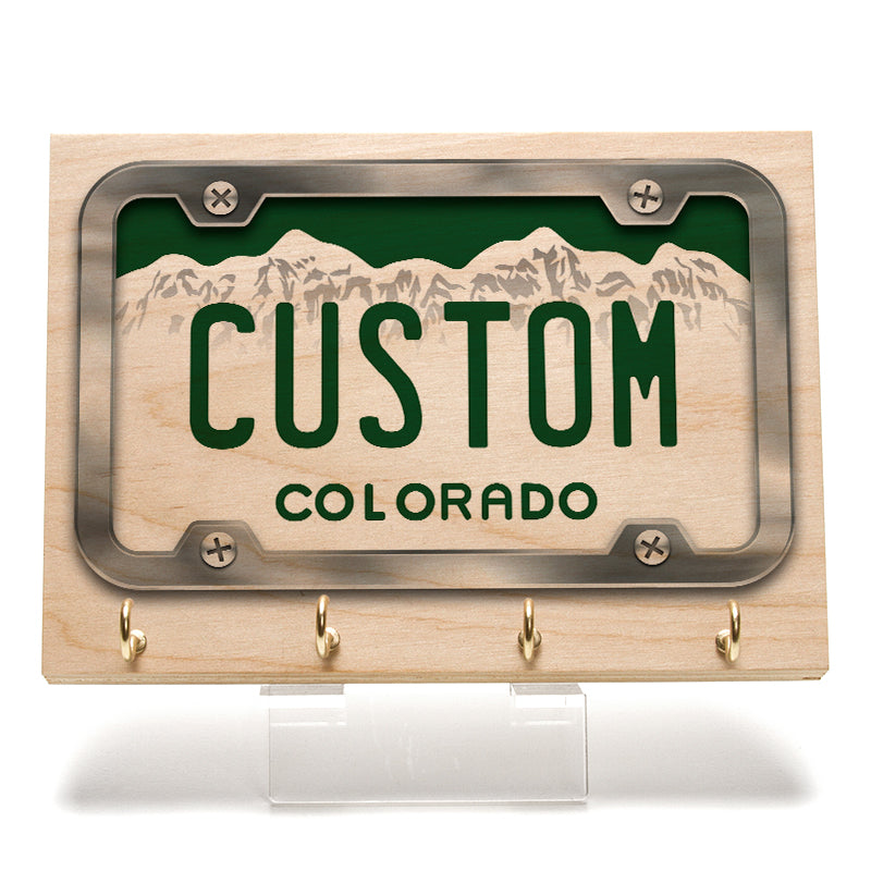 Colorado License Plate Key Rack