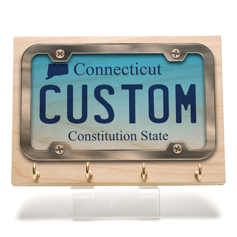 Connecticut License Plate Key Rack