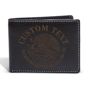Custom Eagle Badge Bifold Wallet