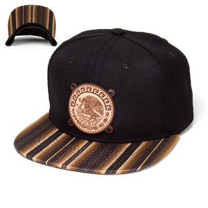 Eagle Badge Brown Sarape Hat