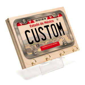 Estado de Mexico License Plate Key Rack