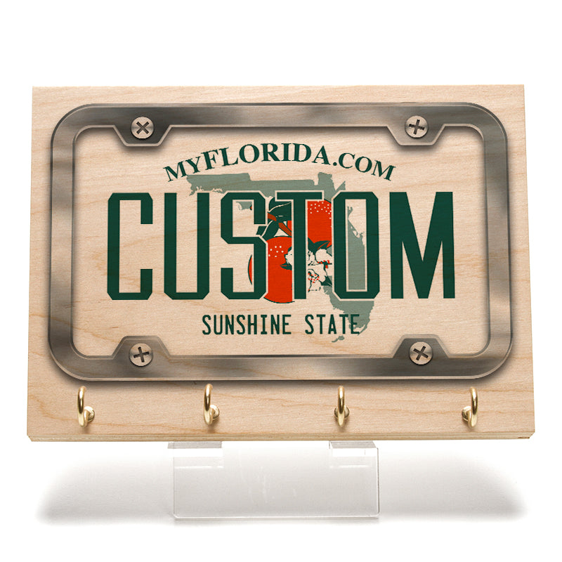 Florida License Plate Key Rack