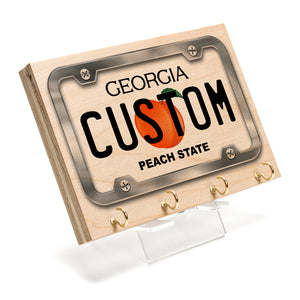 Georgia License Plate Key Rack