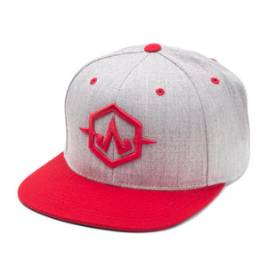 Embroidered Apex Gray/Red