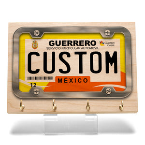 Guerrero License Plate Key Rack