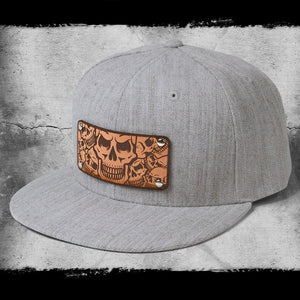 Skull design baseball hat