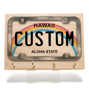 Hawaii License Plate Key Rack