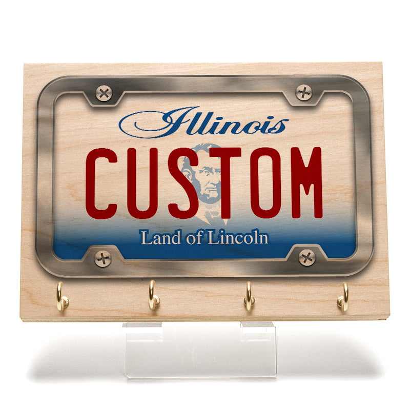 Illinois License Plate Key Rack
