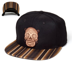 Indi Skull Brown Sarape Hat