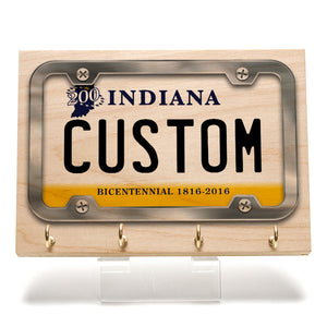 Indiana License Plate Key Rack