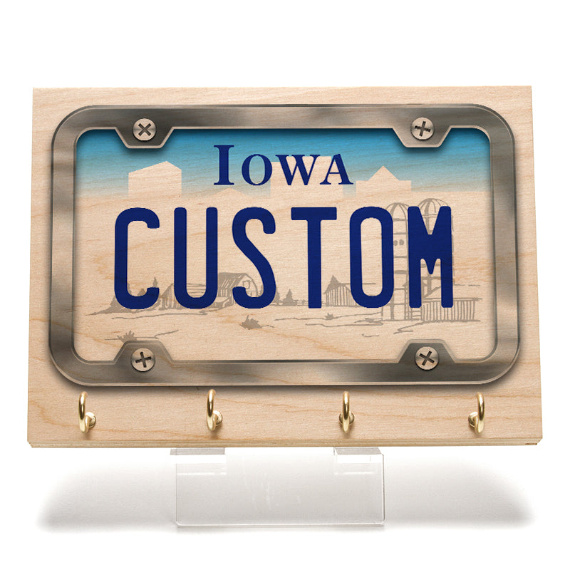 Iowa License Plate Key Rack
