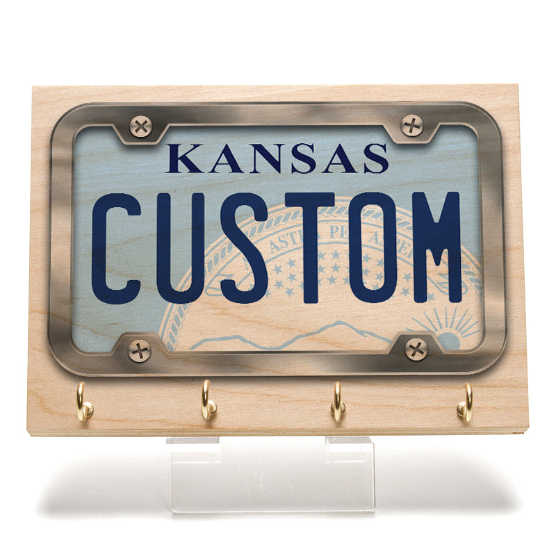 Kansas License Plate Key Rack