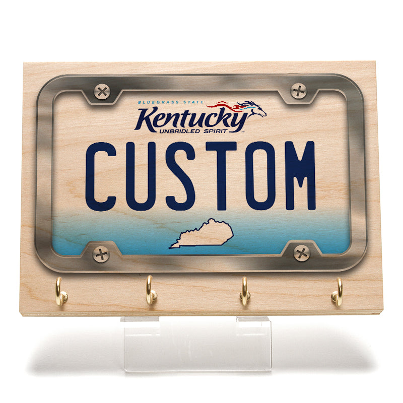 Kentucky License Plate Key Rack