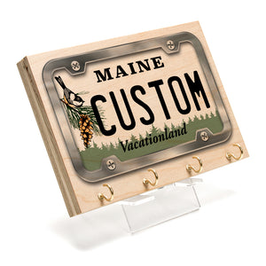Maine License Plate Key Rack