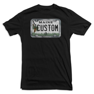 Maine License Plate Tee