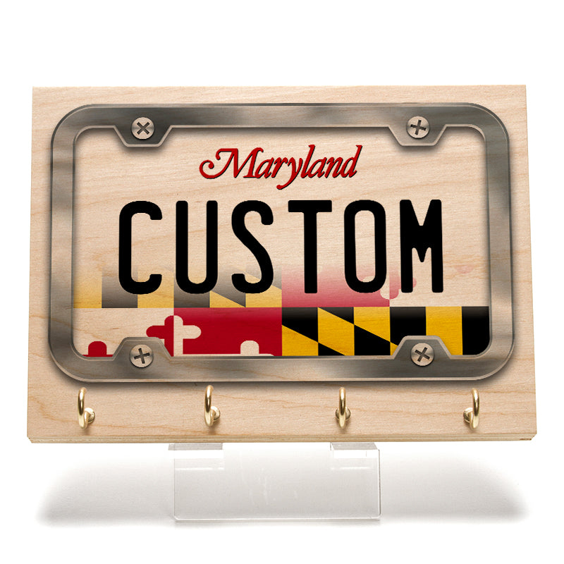 Maryland License Plate Key Rack