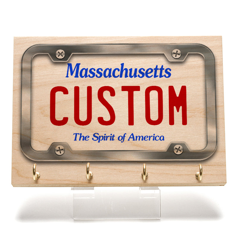 Massachusetts License Plate Key Rack