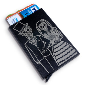 Bride and Groom Metal Wallet