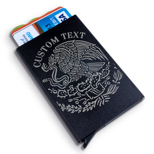 Custom Eagle Badge Metal Wallet