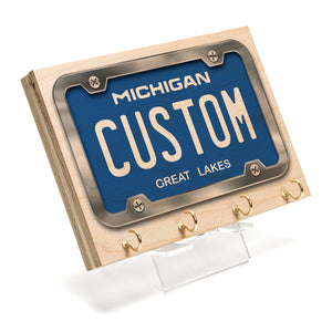 Michigan License Plate Key Rack
