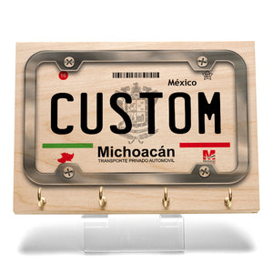 Michoacan License Plate Key Rack