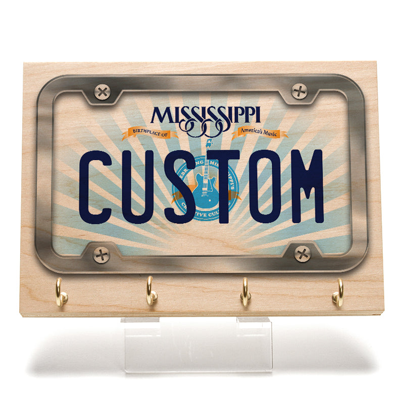 Mississippi License Plate Key Rack