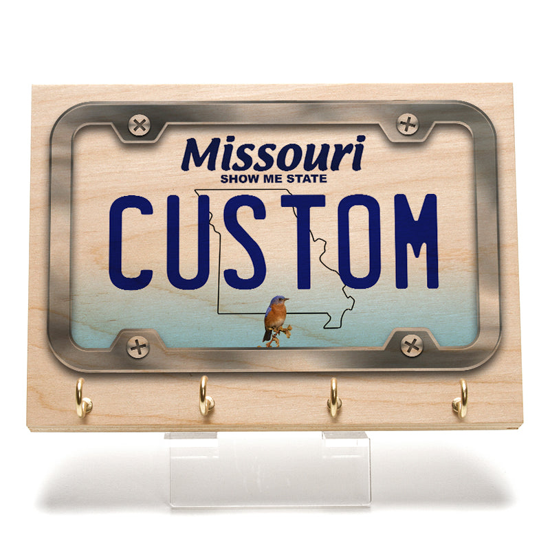 Missouri License Plate Key Rack