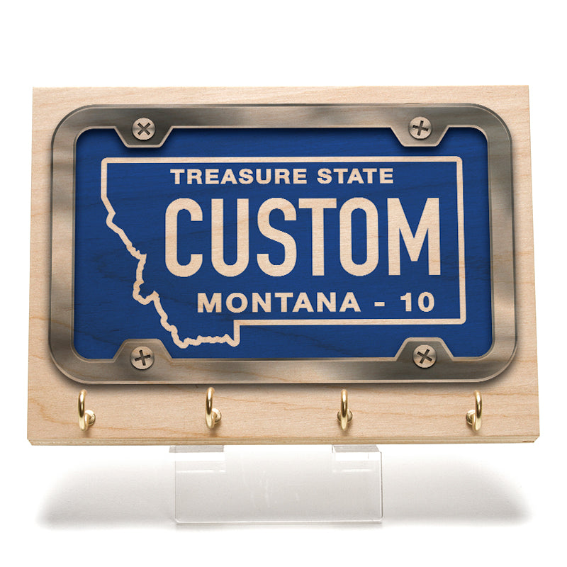 Montana License Plate Key Rack