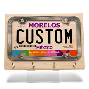 Morelos License Plate Key Rack