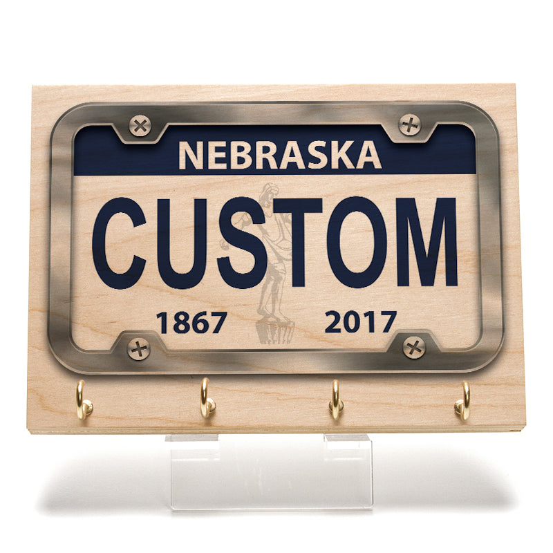 Nebraska License Plate Key Rack