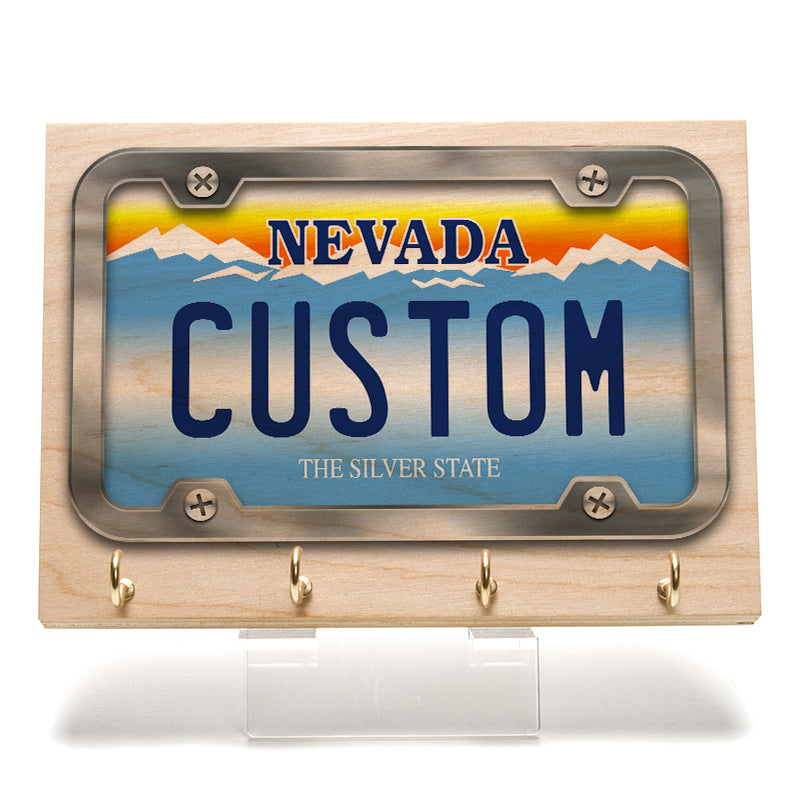 Nevada License Plate Key Rack