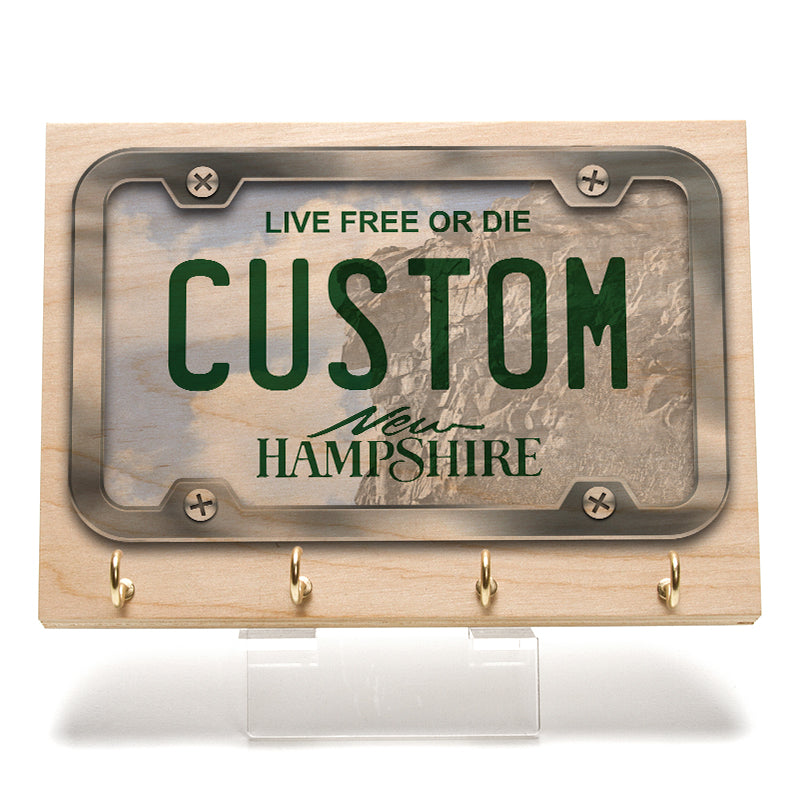 New Hampshire License Plate Key Rack