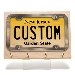 New Jersey License Plate Key Rack