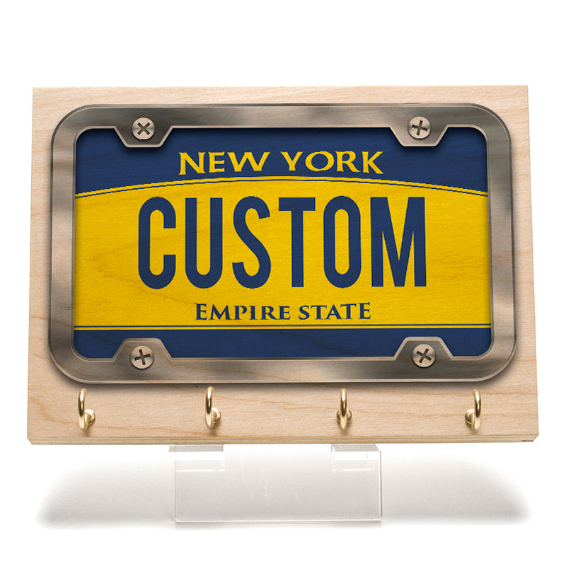 New York License Plate Key Rack