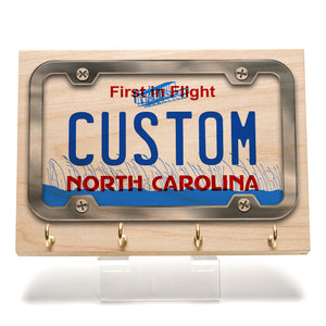 North Carolina License Plate Key Rack
