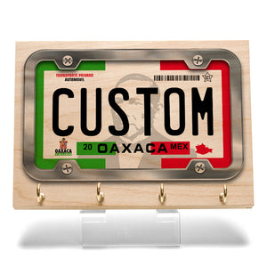 Oaxaca License Plate Key Rack