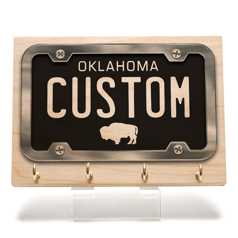 Oklahoma License Plate Key Rack