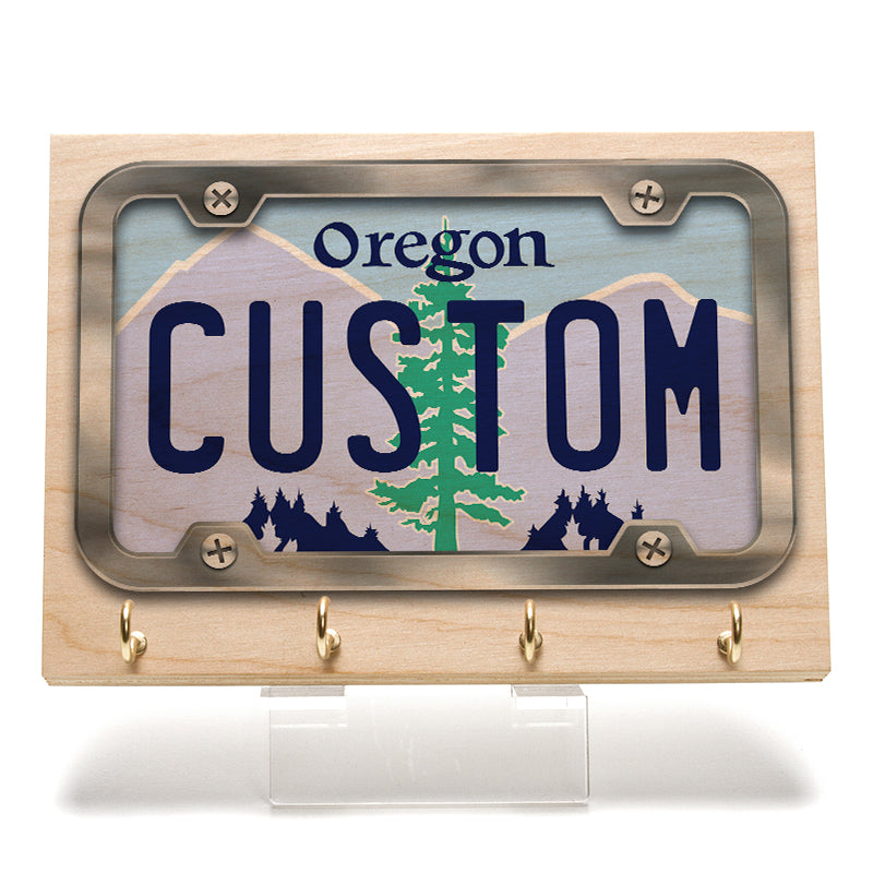 Oregon License Plate Key Rack