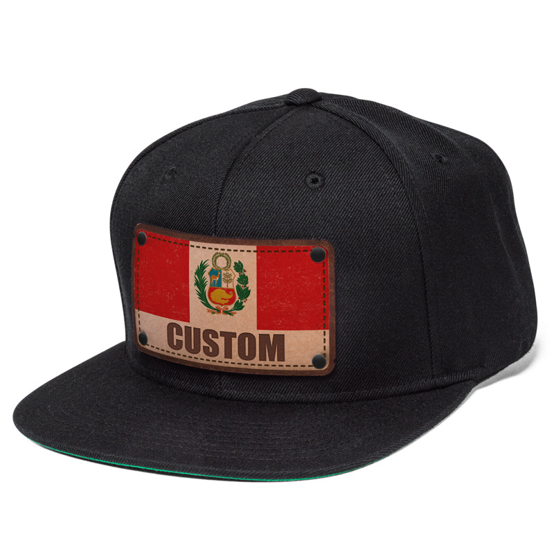 Peruvian flag custom hat designs by citylocs.com 6295f4ec8d3