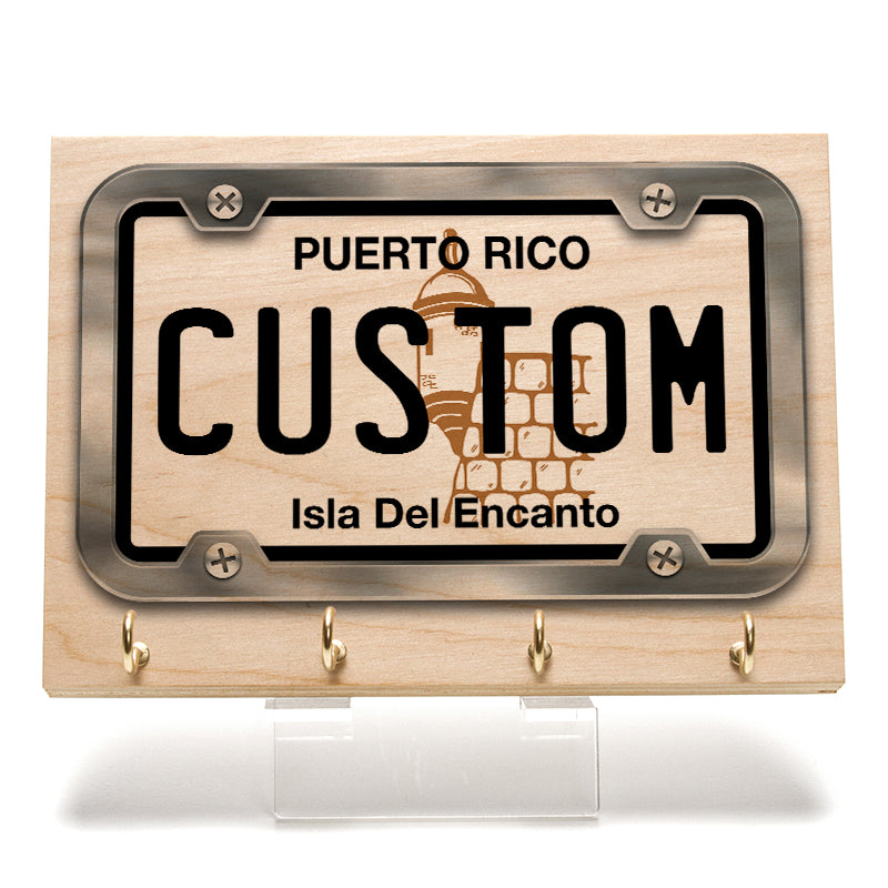 Puerto Rico License Plate Key Rack