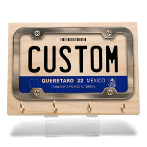 Queretaro License Plate Key Rack