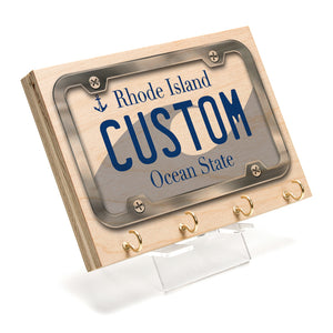 Rhode Island License Plate Key Rack