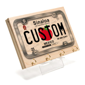 Sinaloa License Plate Key Rack
