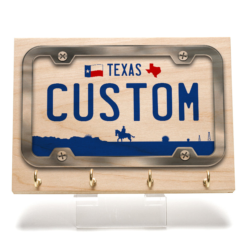 Texas 2000 License Plate Key Rack