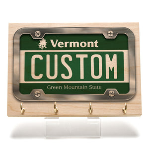 Vermont License Plate Key Rack